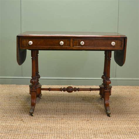 unusual sofa tables unusual victorian burr walnut antique sofa table 292403