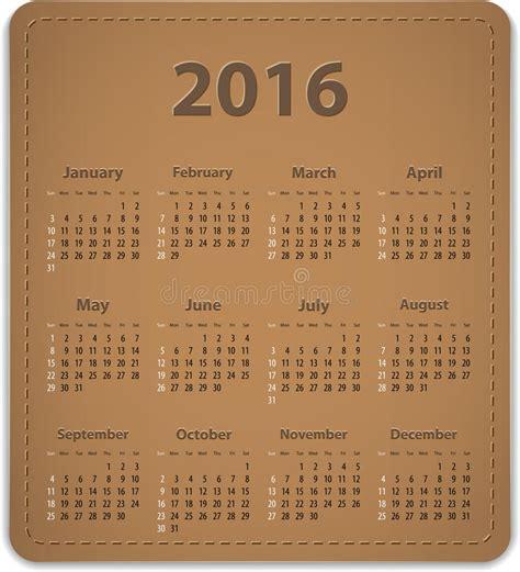 english calendar 2016 design stock vector image 61777684 2016 english calendar stock vector illustration of season