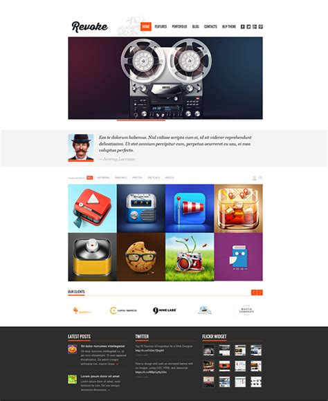 wordpress professional template portfolio download on