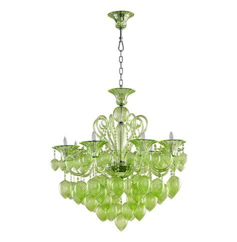 Bella Vetro 8 Light Pale Green Murano Glass Chandelier Chandelier Green