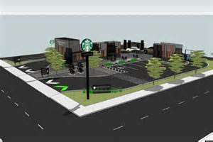 Shipping Container Home Design Books edgewater drive thru starbucks plans slated for new store