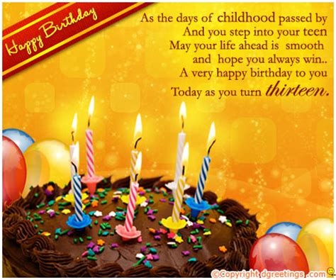 13th Happy Birthday Wishes Beautiful Birthday Wishes Messages Happy Birthday Wishes