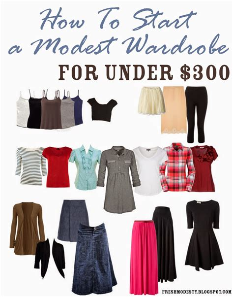 New Wardrobe by Fresh Modesty How To Build A Modest Wardrobe For 300