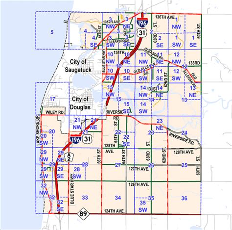 Allegan County Records Plat Map Of Allegan County Michigan Autos Post