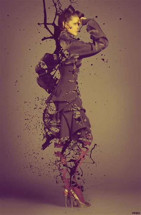 tutorial photoshop splatter create a splatter paint eroded fashion shot in photoshop