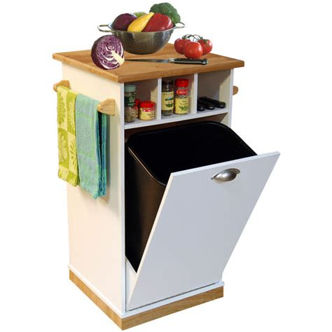 american furnishings butcher block bin with pantry free