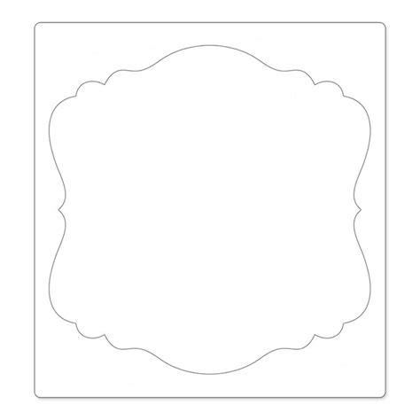 die cutting templates sizzix ornate square 3 bigz pro die cutting template