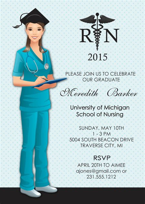Nursing Graduation Card Template by Nursing Graduation Invitations Graduation Invitations