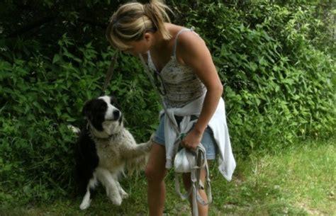 tukif monsieur aime les chien tukif madame aime les chien femme saute par chien femme