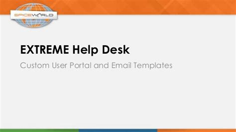 Help Desk Email by Help Desk Create A Custom User Portal Email