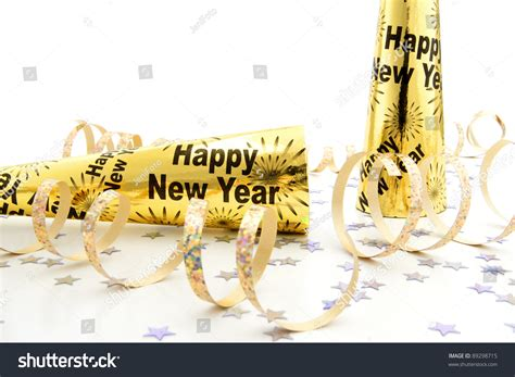 new years streamers new years noisemakers with confetti and