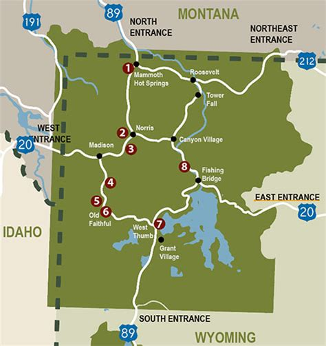 yellowstone geysers map 8 best yellowstone geyser areas and map