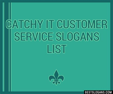 catchy  customer service slogans list taglines