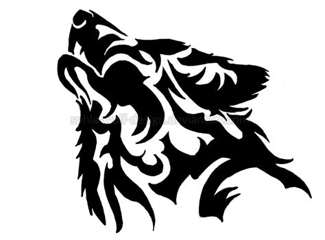 howling wolf design clipart best