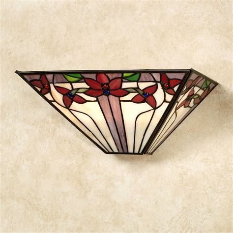 Stained Glass Wall Sconce Jalene Stained Glass Led Wall Sconce