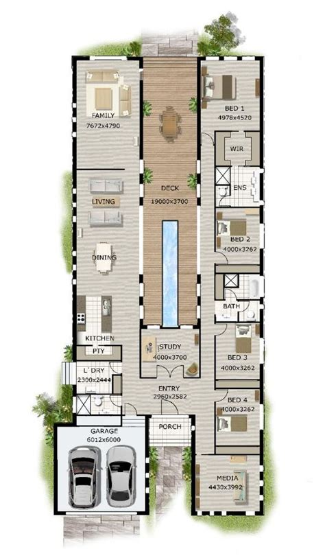 narrow block floor plans contemporary home designs modern narrow block house