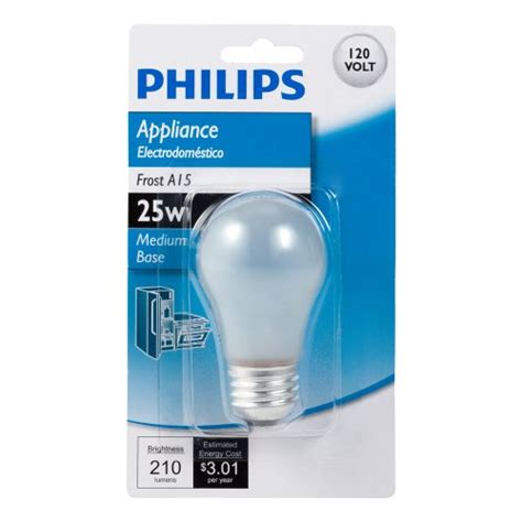 philips 415331 frosted 25 watt a15 appliance light bulb
