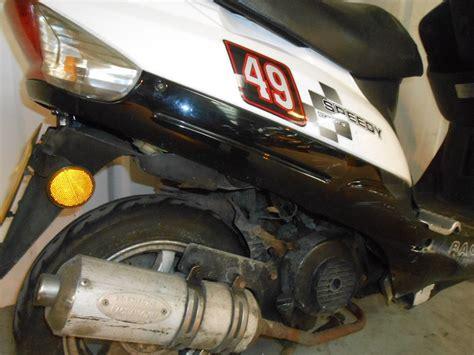 bt motor salvage 2010 baotian bt50 scooter damaged spares or repair no