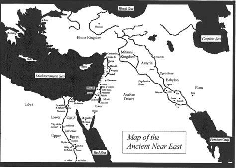map of ancient near east charts and graphics the gospel according to