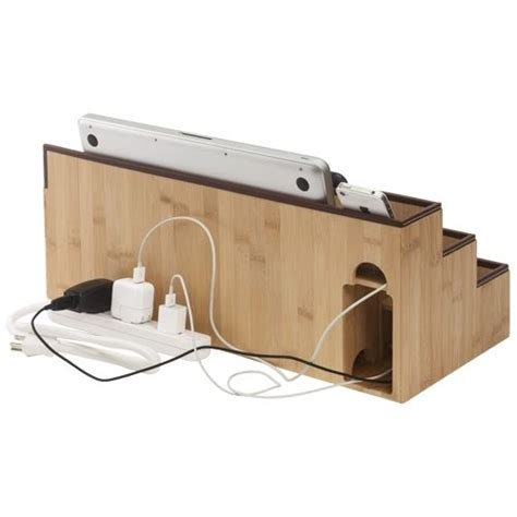 Electronic Charging Station Desk Organizer One Stop Desktop Charging Station And Organizer Tech Storage And Organizers