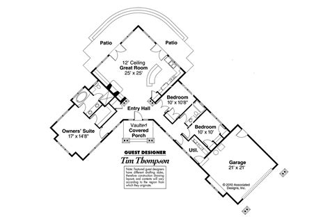 Home Plans With A View by Ranch House Plans Heartview 50 015 Associated Designs