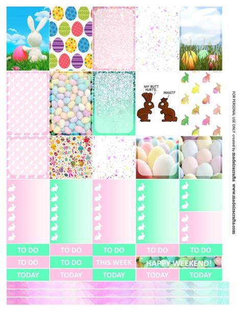 free printable easter planner stickers easter free printable planner stickers for mambi happy