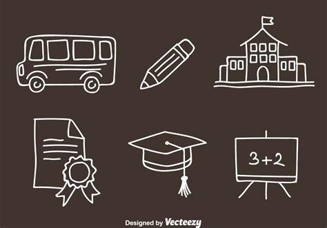 doodlebug academy school doodle vector icons free vector