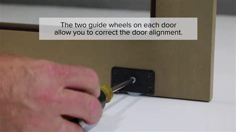 install sliding cabinet doors youtube