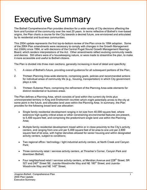 Free Executive Summary Template Word Doc PPT   Calendar