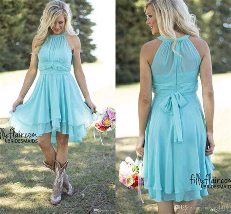 light blue bridesmaid dresses short 2017 new light blue country bridesmaid dresses short cheap