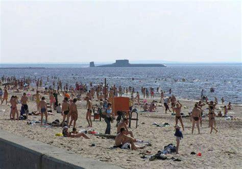 russian beach russian nuclear submarine cruising by a public beach i