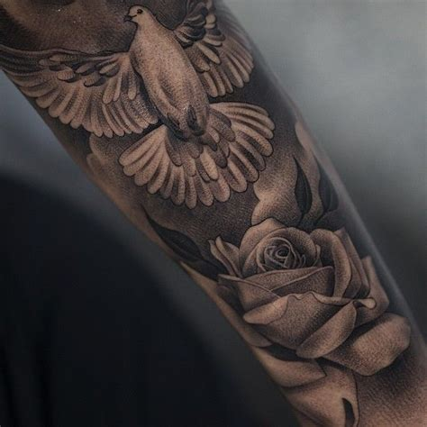 roses and doves tattoo dove tattoos for ideas and inspirations for guys