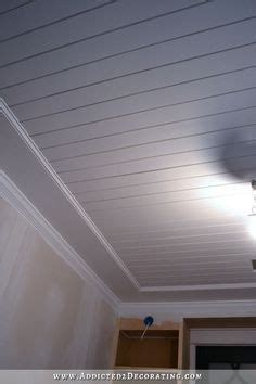 install  wood plank ceiling home ideas plank