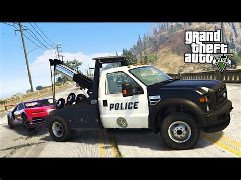 gta 5 mods play as a cop mod!! gta 5 police tow truck