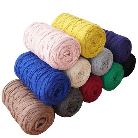 diy knit rug 400g lot 2pcs knit wool diy knitting for rugs woven thread elastic cotton cloth yarn