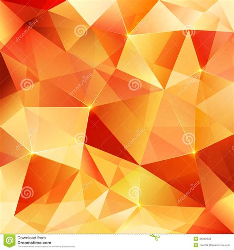 abstract pattern orange orange crystal vector abstract pattern stock vector