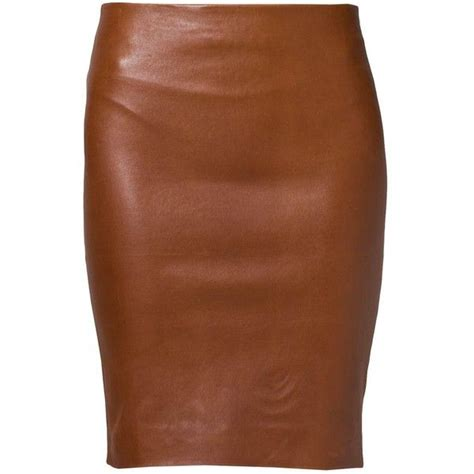 17 best ideas about brown leather skirt on