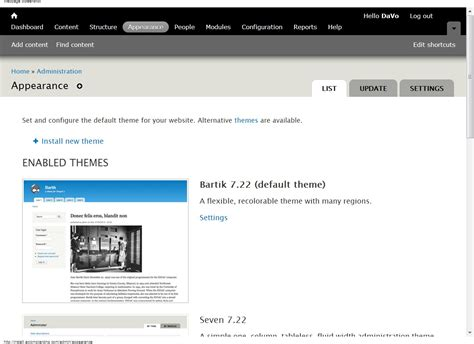 drupal themes blocks installing drupal themes and configuring blocks davo s