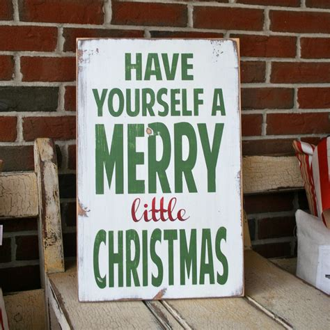 wood painted christmas signs have yourself a merry little