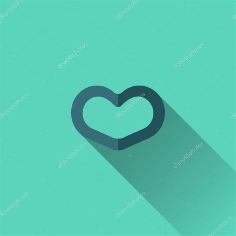 flat design icon heart blue heart icon flat design stock vector 169 stuja 59748409