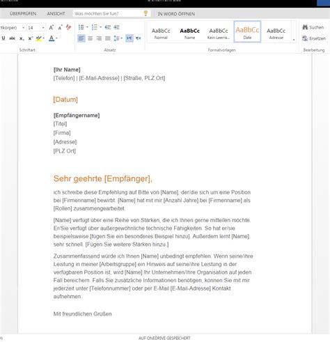 Empfehlung Schreiben Muster Empfehlungsschreiben Zum Downloaden Wordvorlage De