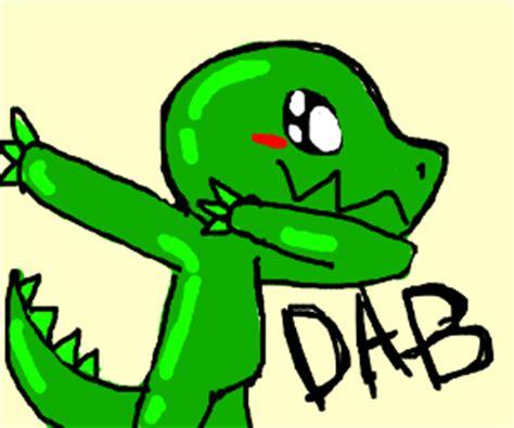 t rex dabbing! drawception