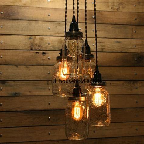 Mason Jar Pendant Light Ls Lighting Fixtures Bar Rustic Tavern Light Fixtures