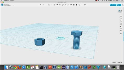 Home Design Shows On Youtube Create A Nut And Bolt In 123d Design For 3d Printing