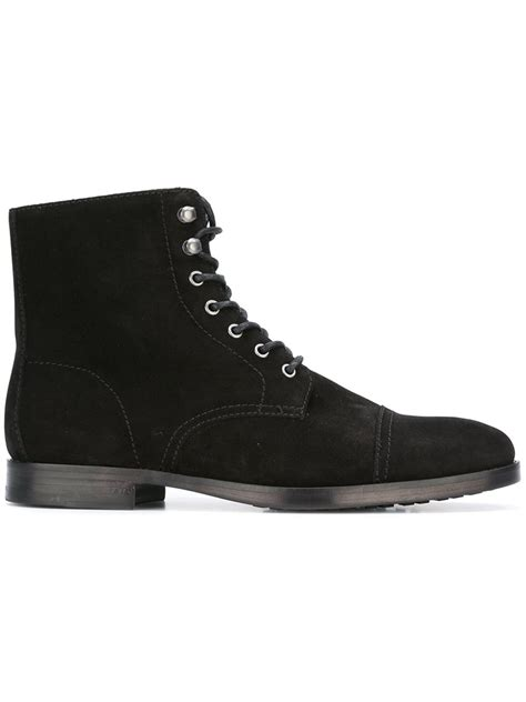 black lace up mens boots handcrafted mens fashion black suede lace up boots