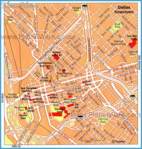 maps dallas dallas map tourist attractions travelsfinders