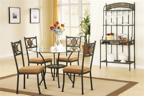Dining Room Glass Top Table Sets by Earth Tone Dining Table Set With Glass Top