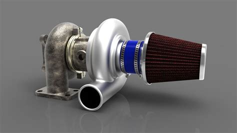 Air Filter 3d Model turbocharger with air filter 3d model ige igs iges wrl wrz