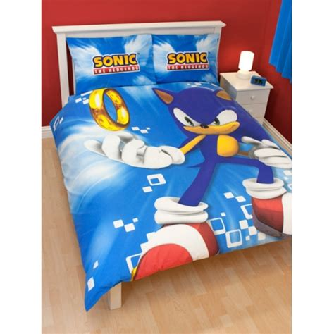 sonic bedding sonic the hedgehog spin panel double bed duvet quilt