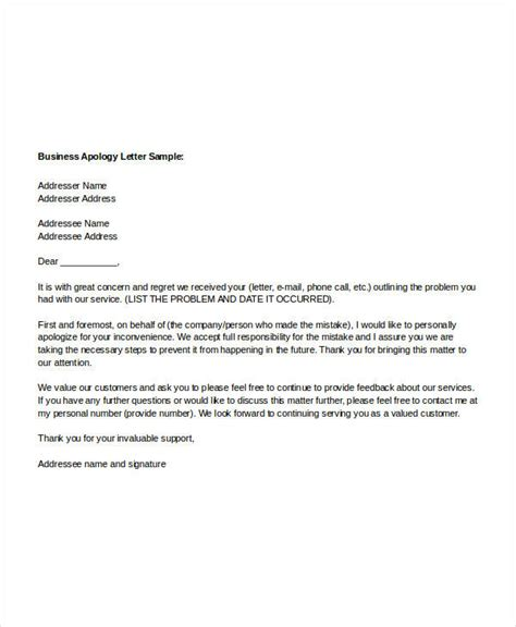 business letter to apology sle apology letter templates 13 free word pdf
